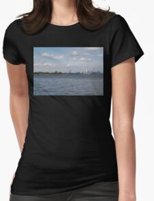 """Toronto (The 6) Skyline """"Halves"""" Womens Fitted T-Shirt"""