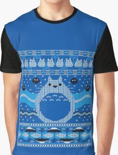 Totoro Knitted Neighbor Graphic T-Shirt