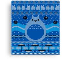 Totoro Knitted Neighbor Canvas Print