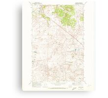 USGS Topo Map Washington State WA Telford 244223 1969 24000 Canvas Print