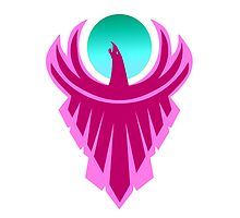 The New Day - Phoenix Logo (Pink and Teal) by Ramenkin