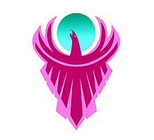 The New Day - Phoenix Logo (Pink and Teal) Photographic Print