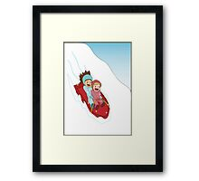Sledding Framed Print
