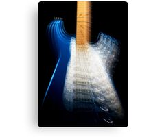 Fender Stratocaster In Blue Sparkle Zoom Canvas Print