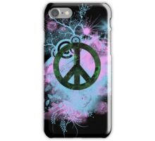 Blue/Pink Peace Sign Collage Case iPhone Case/Skin