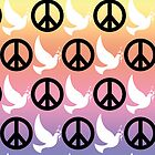 B&W Peace Sign/Doves Case by Jenifer Jenkins