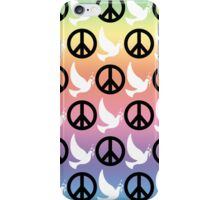 B&W Peace Sign/Doves Case iPhone Case/Skin