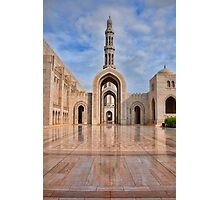 Reflections at Sultan Qaboos Grand Mosque Photographic Print