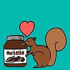 A Squirrel&#x27;s Nutella (Teal) by sirmaverick