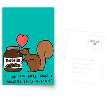A Squirrel's Nutella (Teal) Postcards