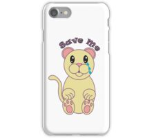 Save Me (Florida Panther) iPhone Case/Skin