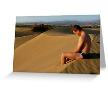 Pondering Sunsets Greeting Card