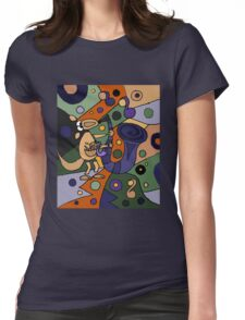Funny Cool Kangaroo Playing Saxophone Art Womens Fitted T-Shirt