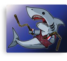 Shark with Nunchucks Canvas Print