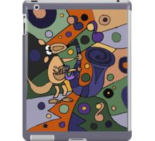 Funny Cool Kangaroo Playing Saxophone Art iPad Case/Skin