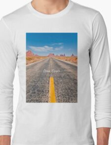 Where we're going, We don't need roads! Long Sleeve T-Shirt