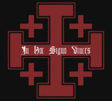 Jerusalem cross (Red), In hoc signo vinces by five5six