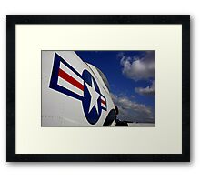 WWII Airplane - US Airforce Framed Print