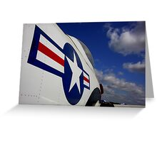 WWII Airplane - US Airforce Greeting Card
