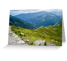 Tatry from the Kasprowy Wierch Greeting Card
