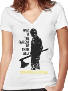 Who is the fairest of them all? Women's Fitted V-Neck T-Shirt