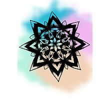 Colourful Flower Mandala design Photographic Print