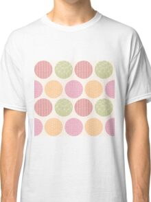 Seamless pattern with ornamental circles and line drawings Classic T-Shirt