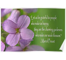 Grateful Blossom Poster
