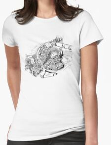 BBC Television Centre floorplan Womens Fitted T-Shirt