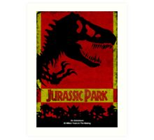 Unofficial Jurassic Park Movie Poster Art Print