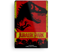 Unofficial Jurassic Park Movie Poster Metal Print