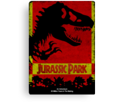 Unofficial Jurassic Park Movie Poster Canvas Print