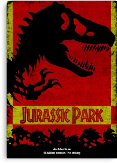 Unofficial Jurassic Park Movie Poster by Gruntbuddy