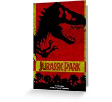 Unofficial Jurassic Park Movie Poster Greeting Card