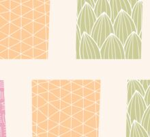 Seamless pattern with ornamental square shapes and line drawings Sticker