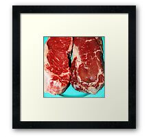 New York Steak Raw Framed Print