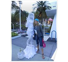 the statue and my friend Nel Poster
