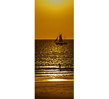 Sunset Sail - Pearl Lugger - Broome - WA  Photographic Print