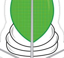 Fencing Shield - Green Sticker