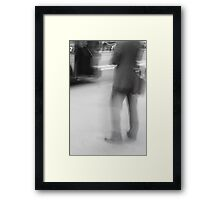 Catching The Bus Framed Print