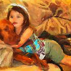 Vizsla Milo and Cousin Autumn by doggylips