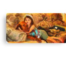 Vizsla Milo and Cousin Autumn Canvas Print