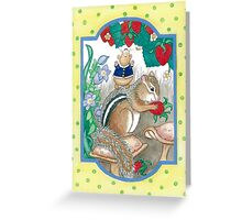 CHIPMUNK AND HAMSTER Greeting Card