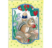 CHIPMUNK AND HAMSTER Photographic Print