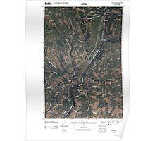 USGS Topo Map Washington State WA Satus Pass 20110407 TM Poster