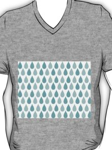 Seamless pattern with ornamental rain drops and line drawings T-Shirt