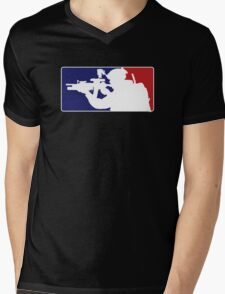 Major League fill in the blank... Mens V-Neck T-Shirt