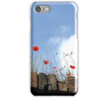 Poppies on a Brick Wall iPhone Case/Skin