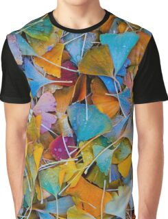 Fallen Ginkgo Leaves Graphic T-Shirt