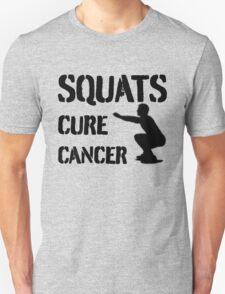 Squats Cure Cancer - Black T-Shirt
